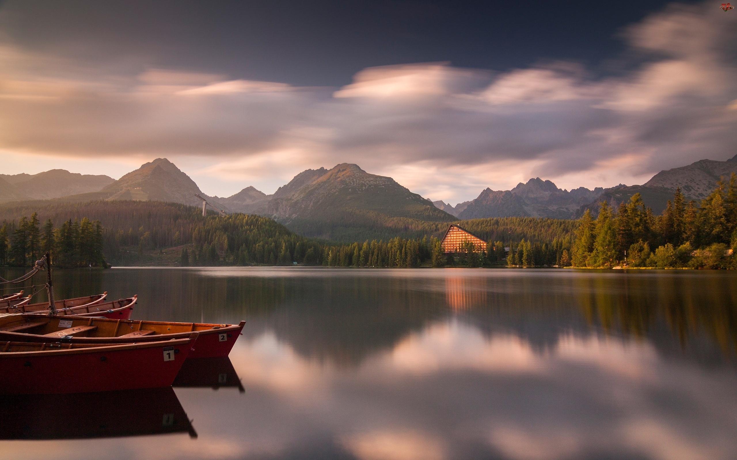 Słowacja, Łódki, Góry, Tatry