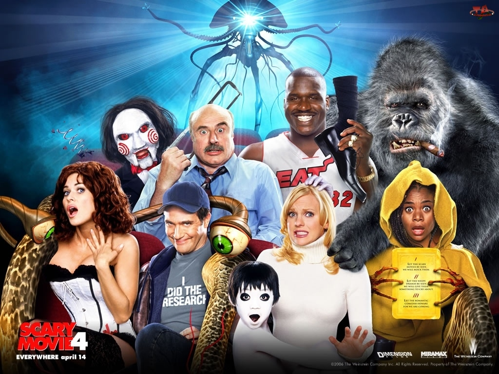 postacie, Scary Movie 4, King Kong, Anna Faris, Piła