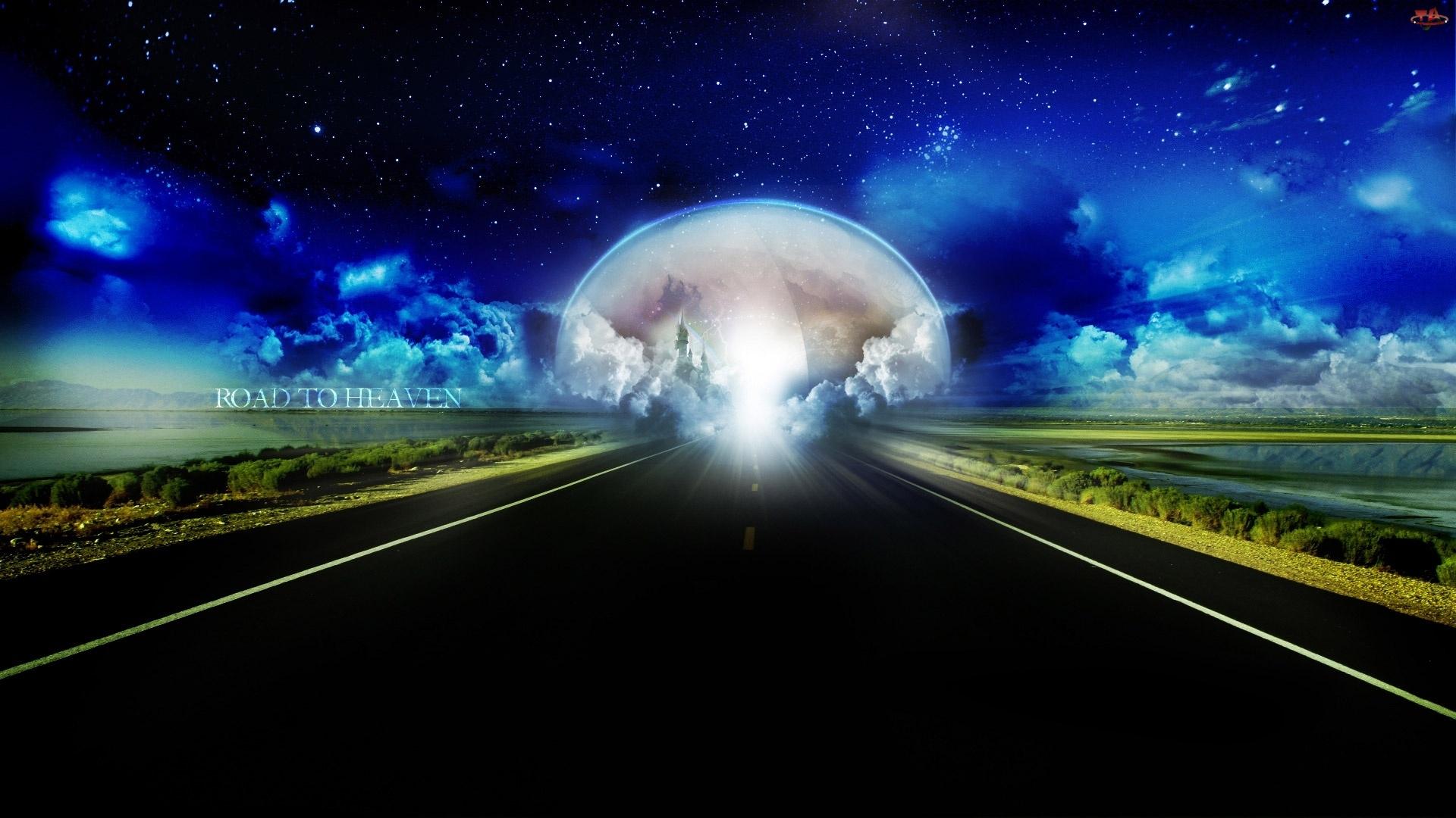 Droga, Chmury, Do, Nieba