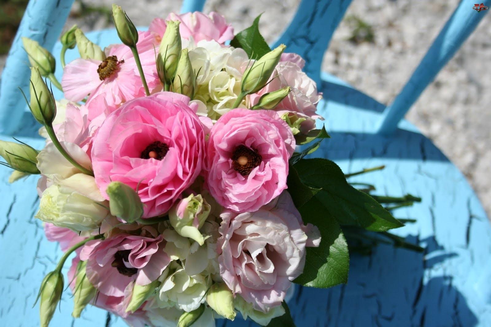 Kwiatów, Bukiet, Różowych