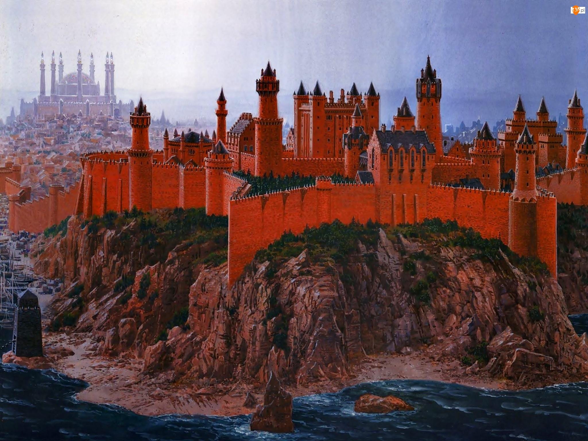 Zamek, Malarstwo, Na, Skale