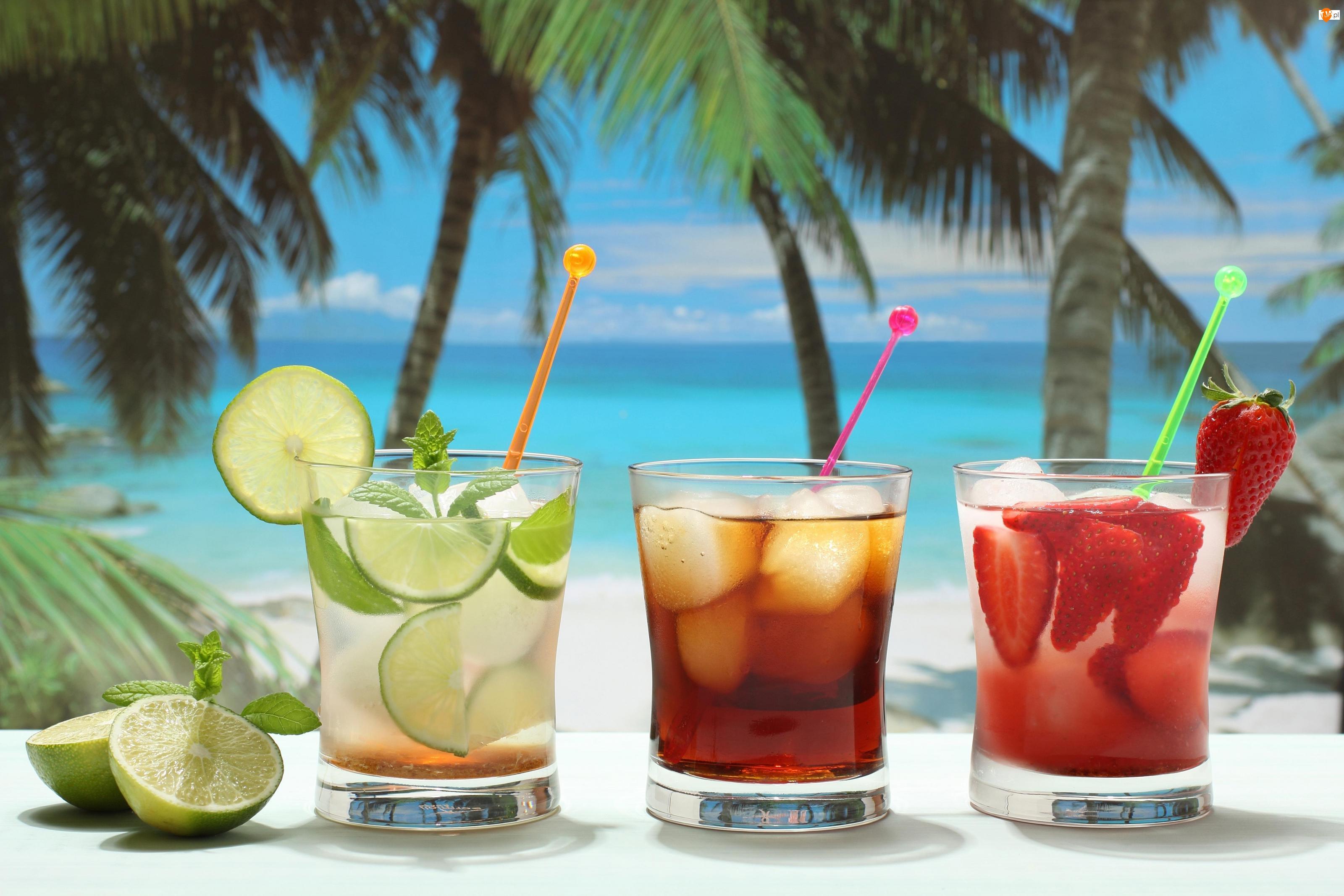 Owocowe, Tropik, Drinki, Ocean