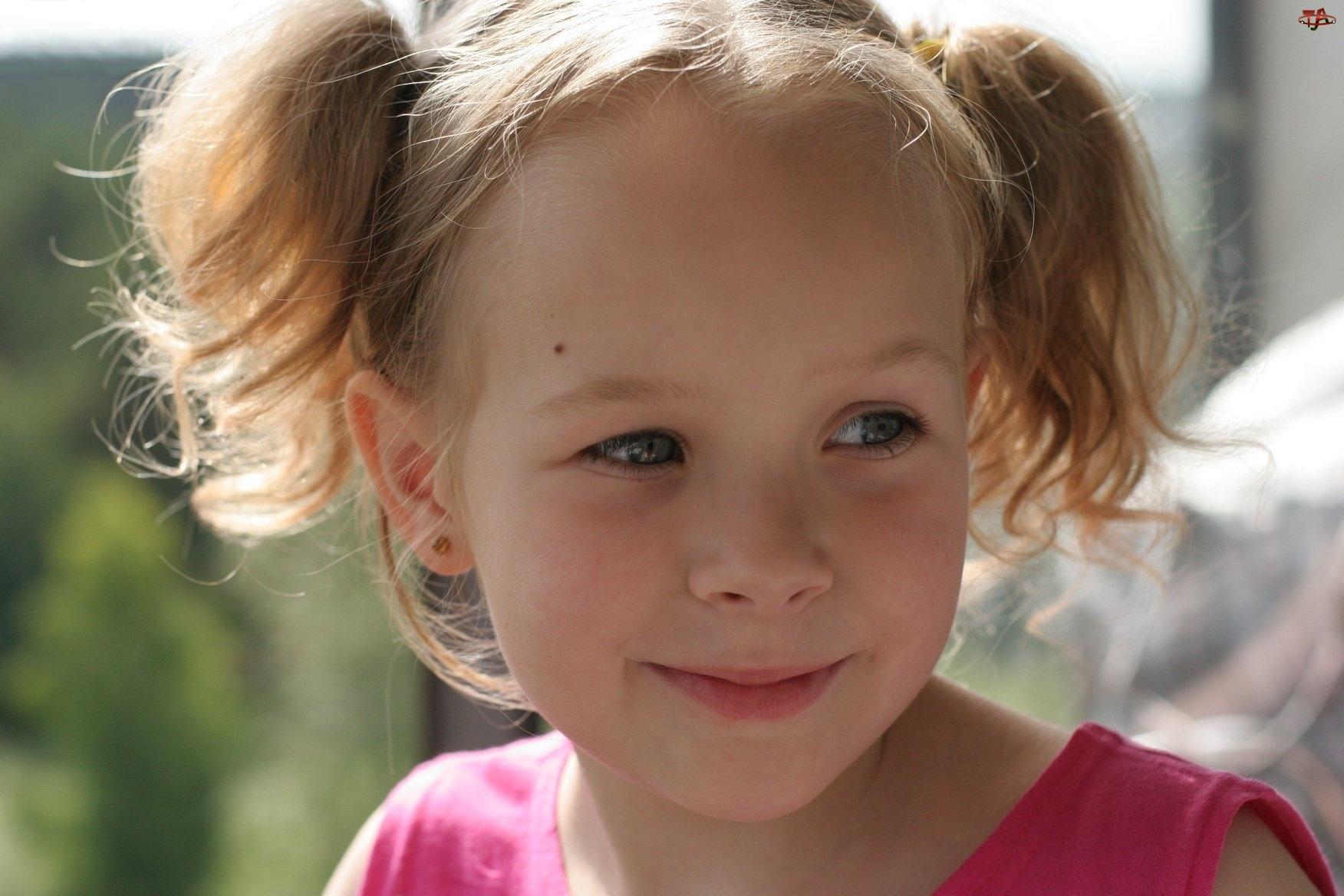 Dziewczynka, Kitki, Filuterny, Usmiech