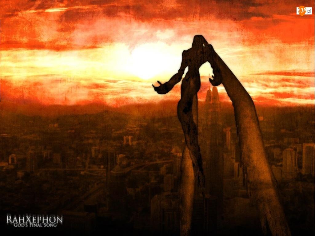 Rahxephon, mrok, postać, miasto