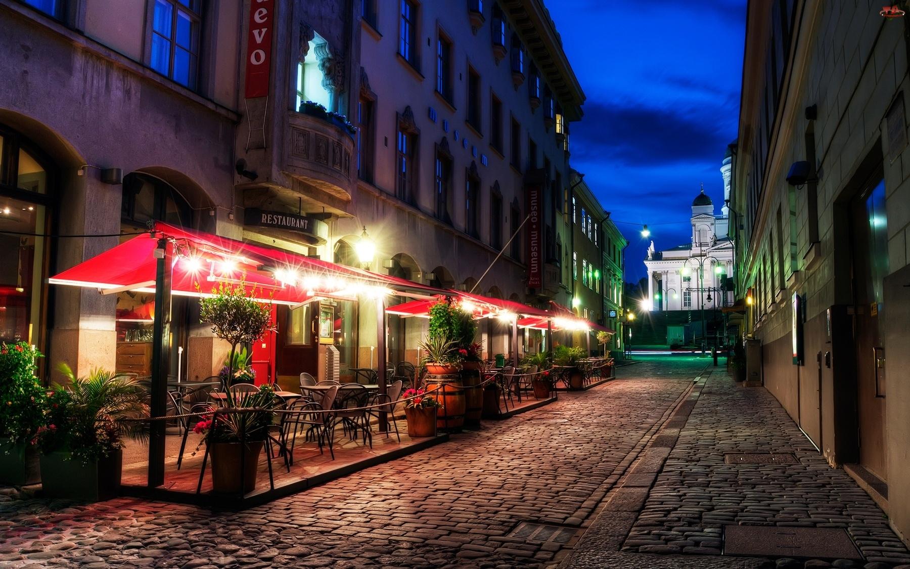 Helsinki, Ulica, Restauracja, Brukowana
