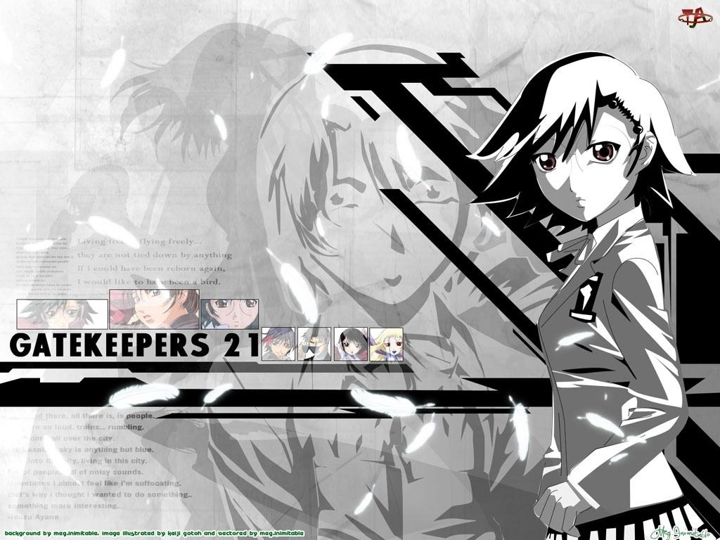 Gate Keepers, postać, napis, ludzie