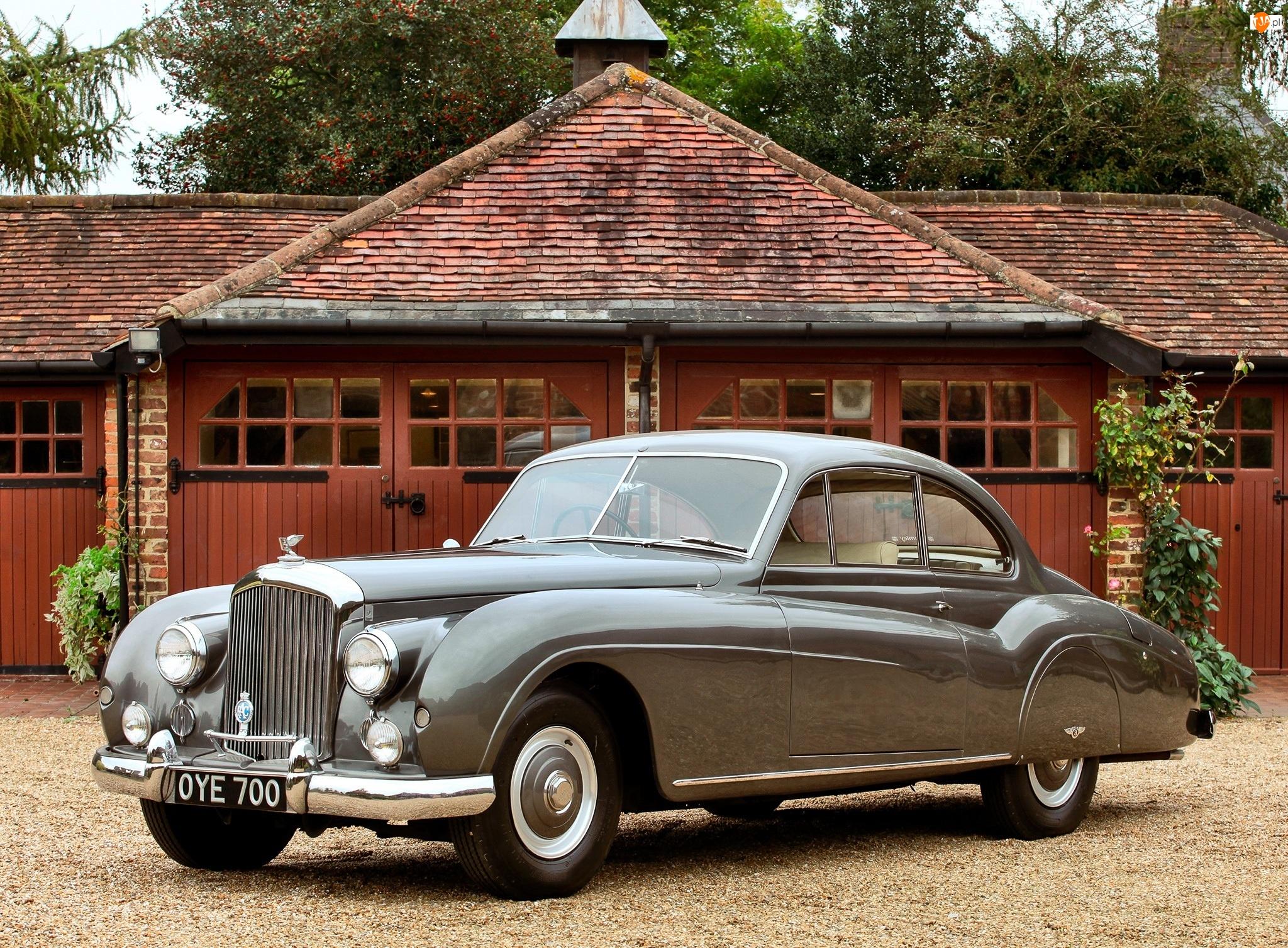 Samochód Zabytkowy, Szary, Bentley R-Type Coupe
