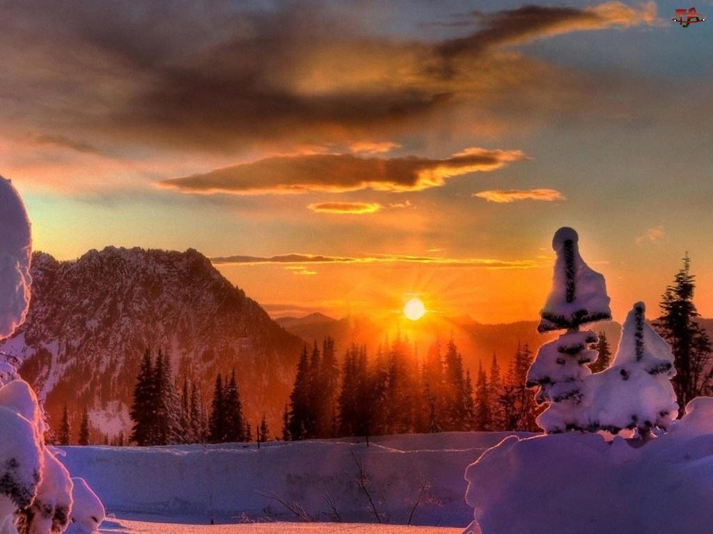 Zima, Zachód Słońca
