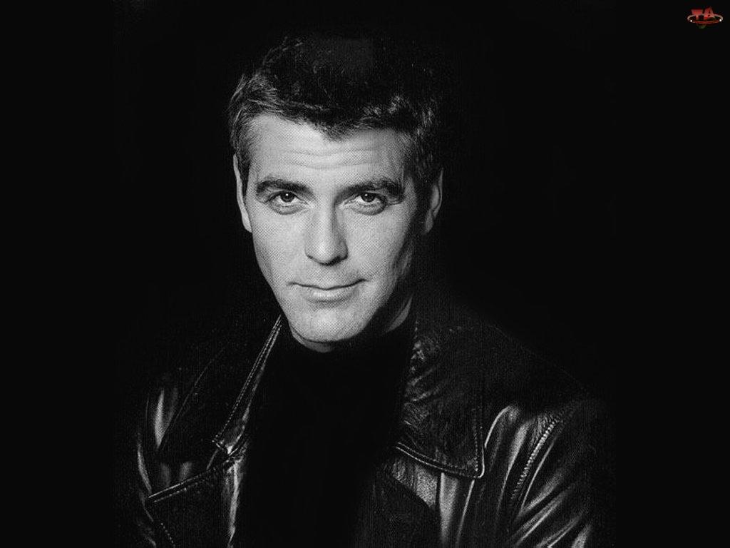 kurtka, George Clooney, czarna koszulka
