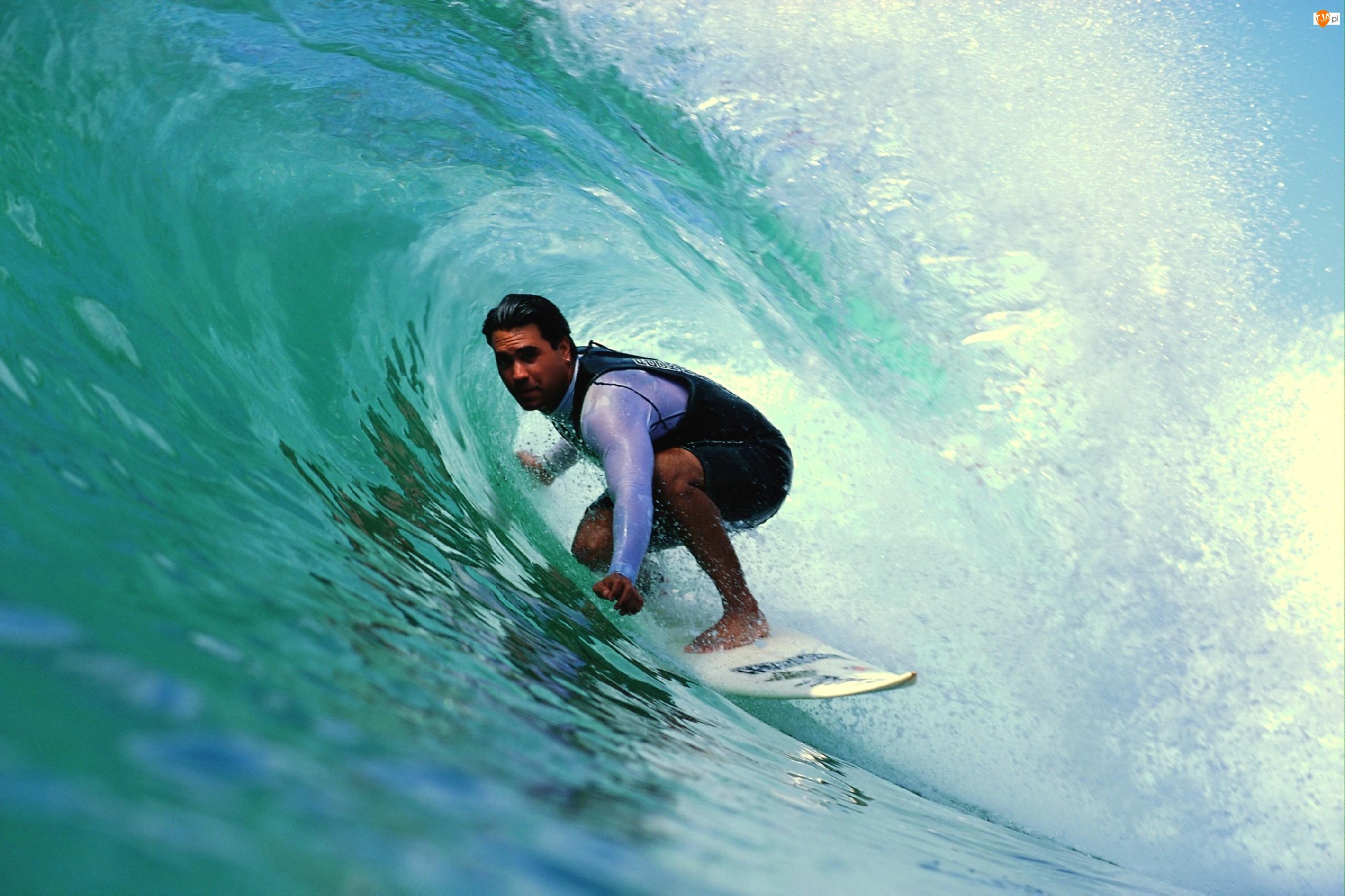 Deska, Surfer, Fala