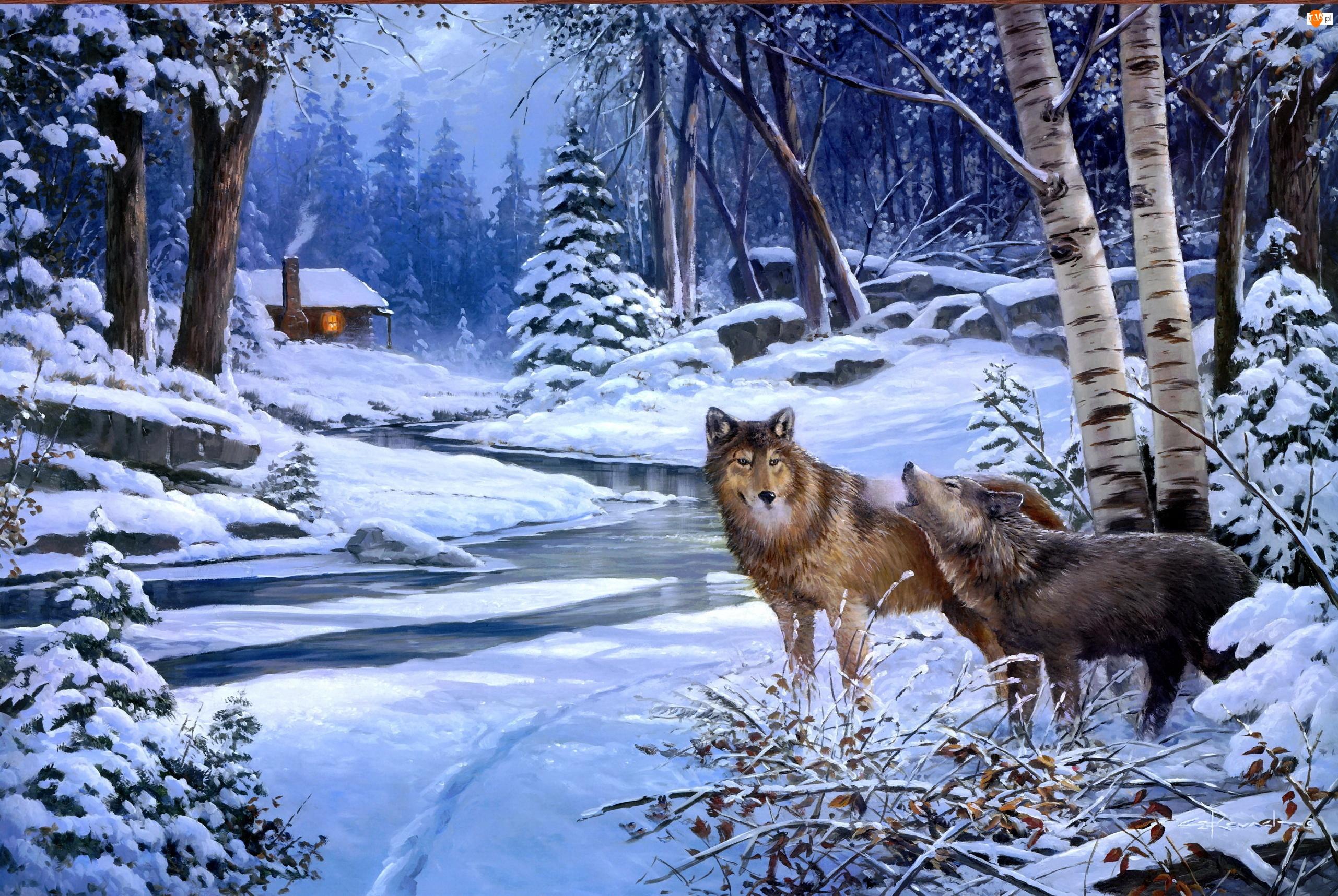 Malarstwo, Wilki, Zima