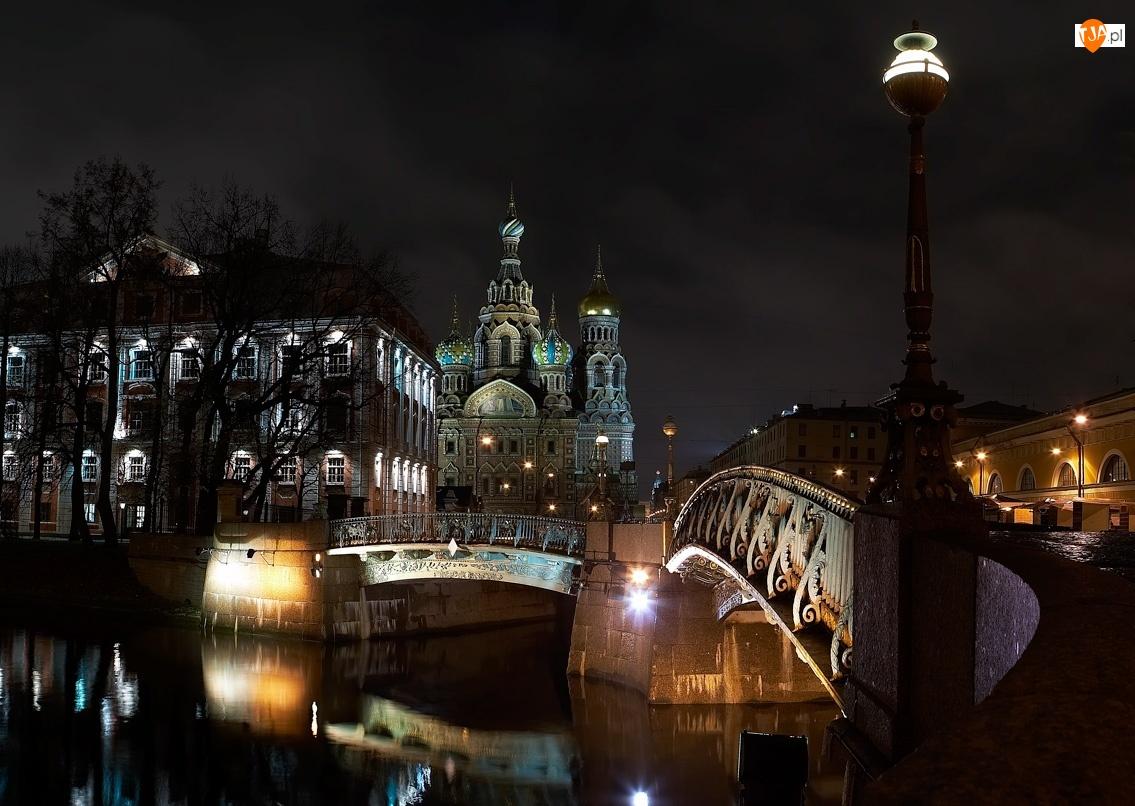 Most, Noc, Rzeka, Cerkiew