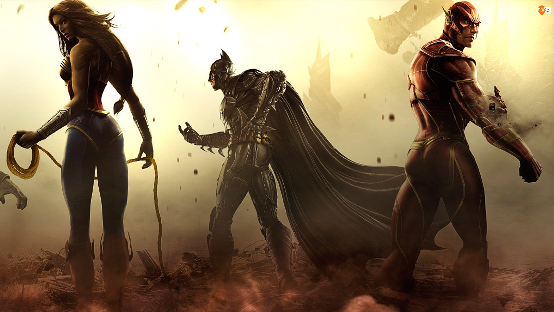 Injustice Gods Among Us, Flash, Wonder Woman, Batman