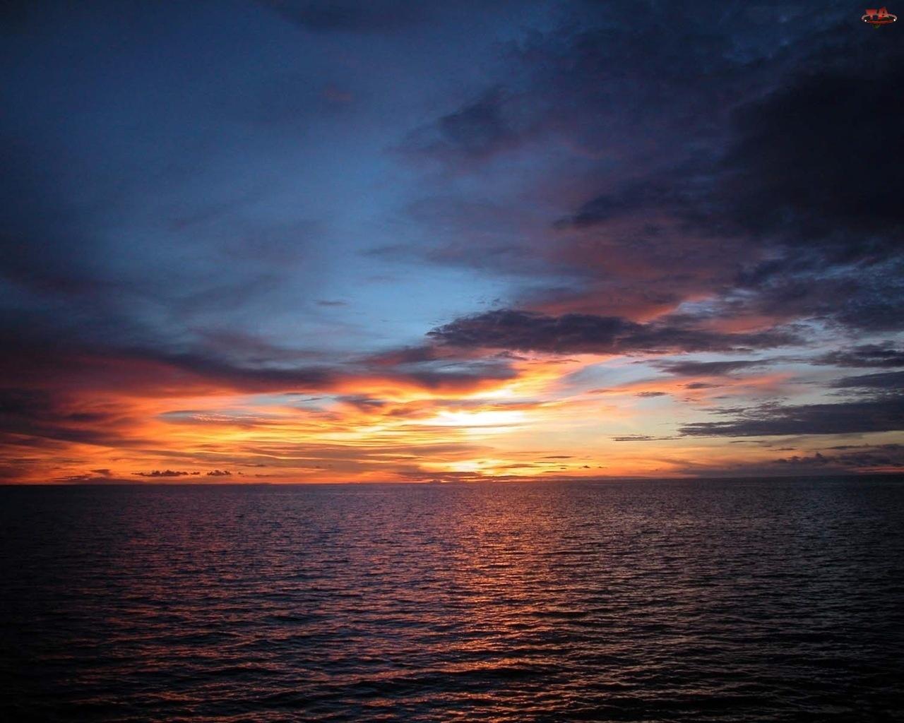 Zachód Słońca, Morze, Wieczór