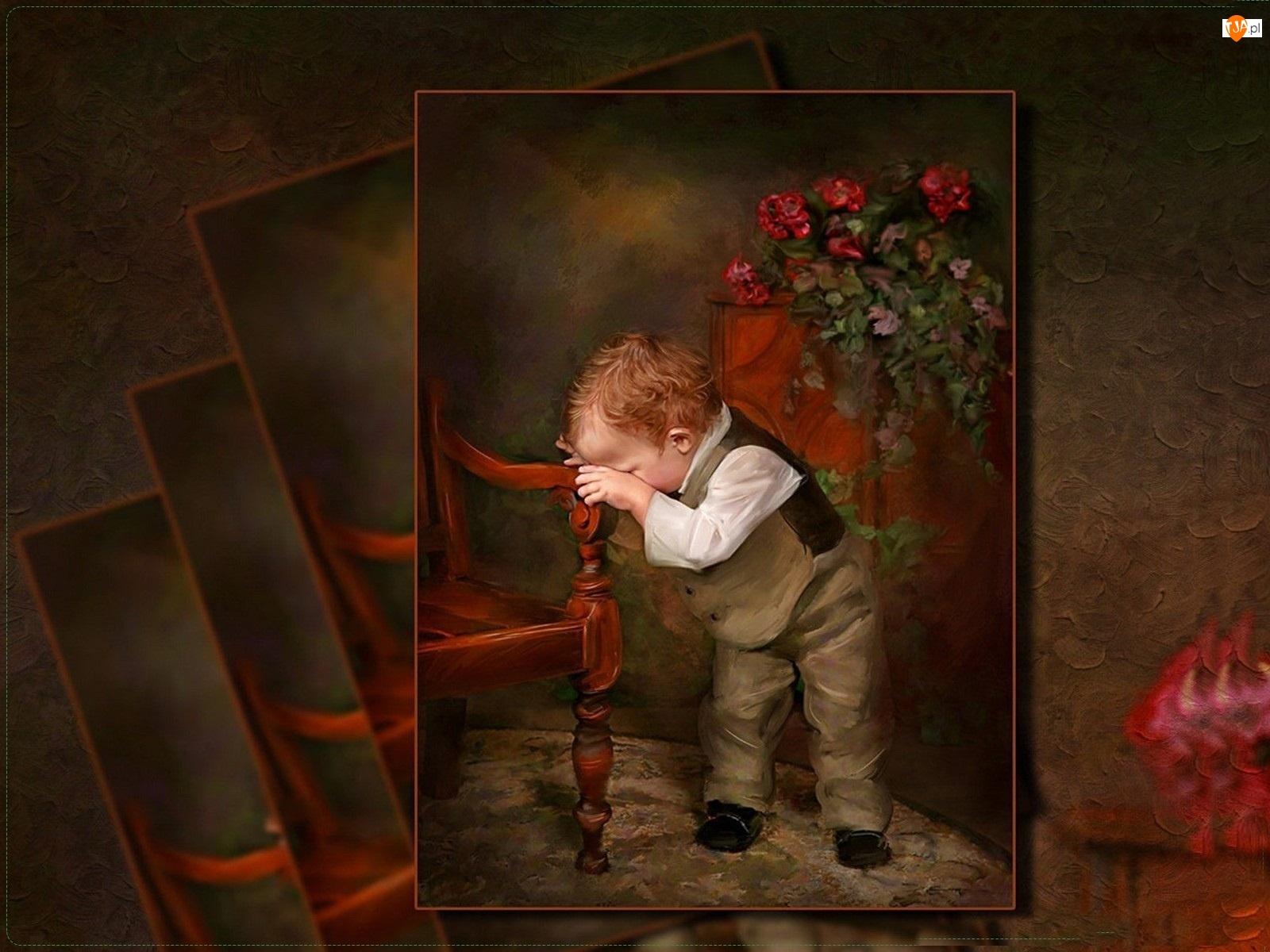 Chłopiec, Richard Ramsey, Malarstwo
