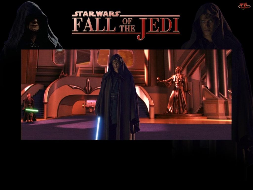 schody, Star Wars, płaszcz, Hayden Christensen, laser