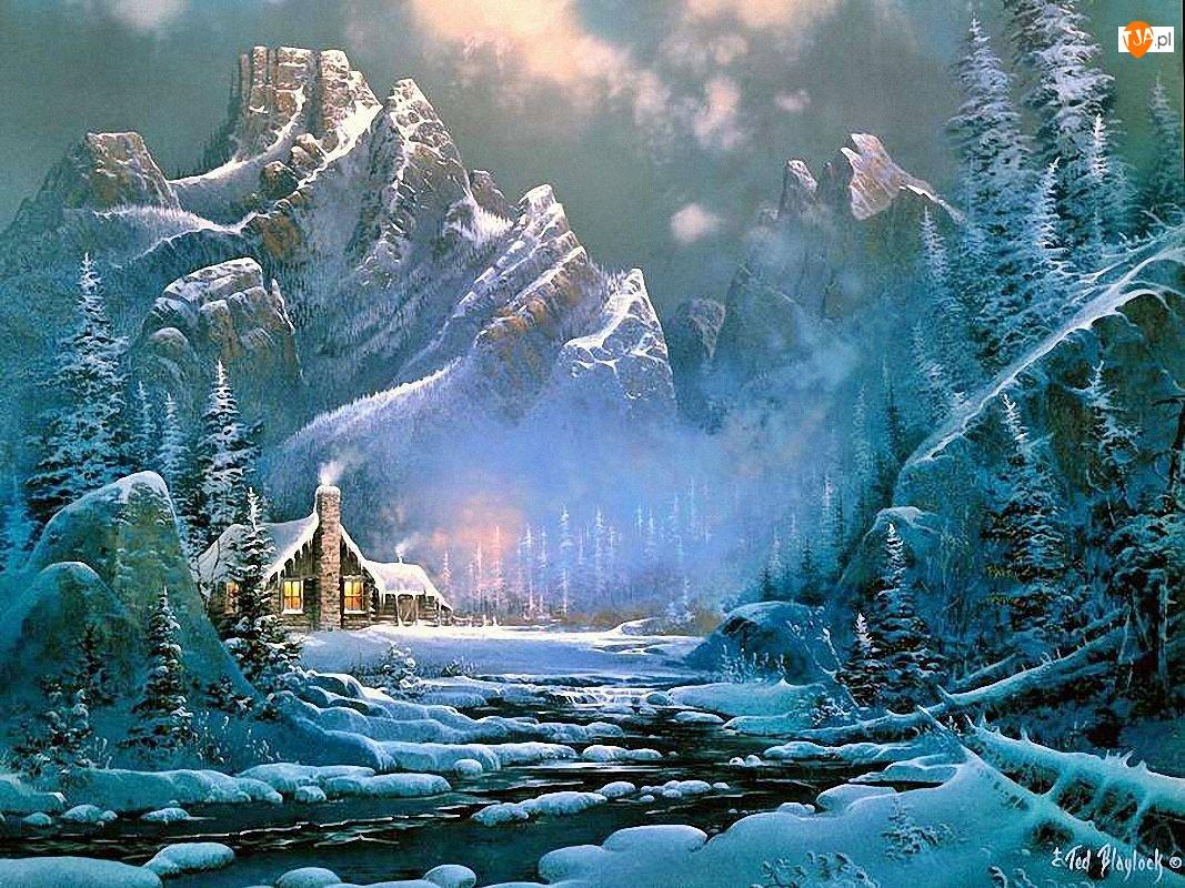 Malarstwo, Zima, Góry