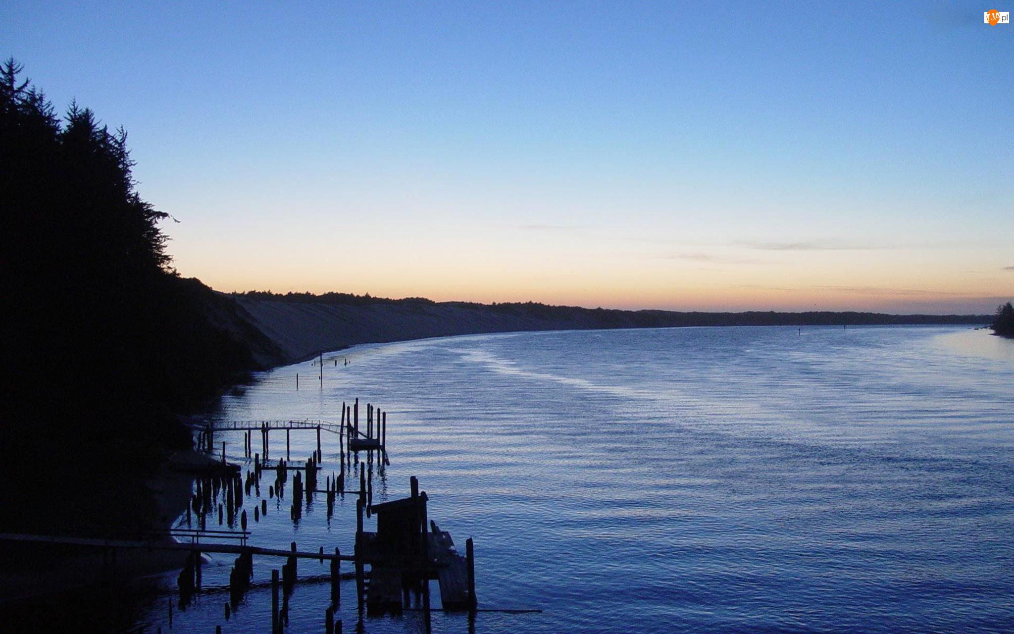 Zatoka, Zachód, Słońca