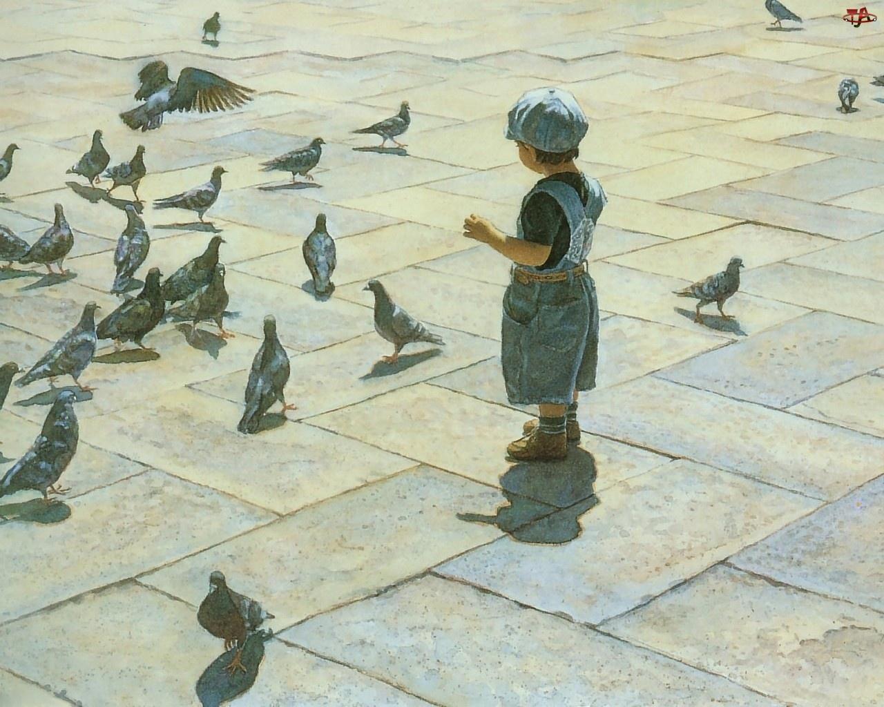Dziecko, Gołębie