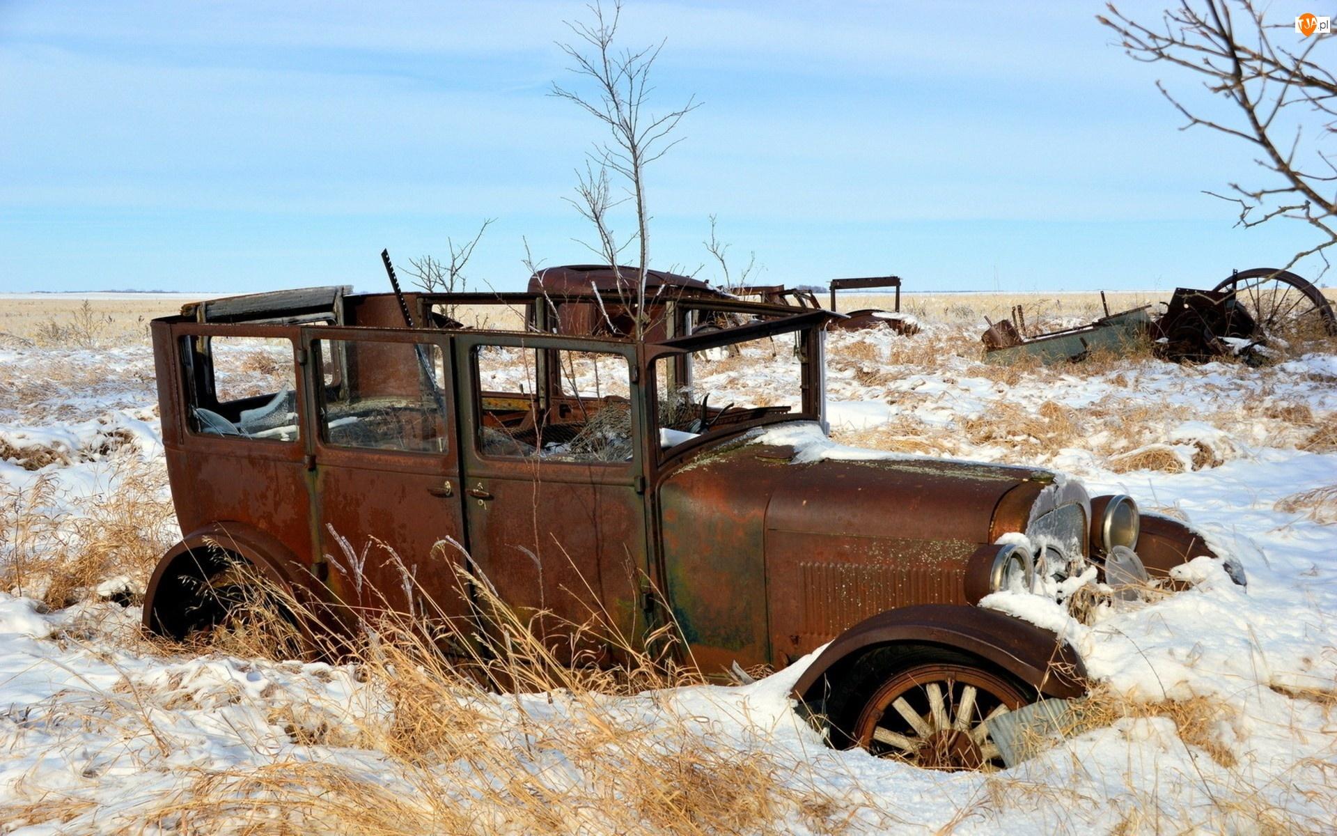 Samochód, Zima, Zabytkowy