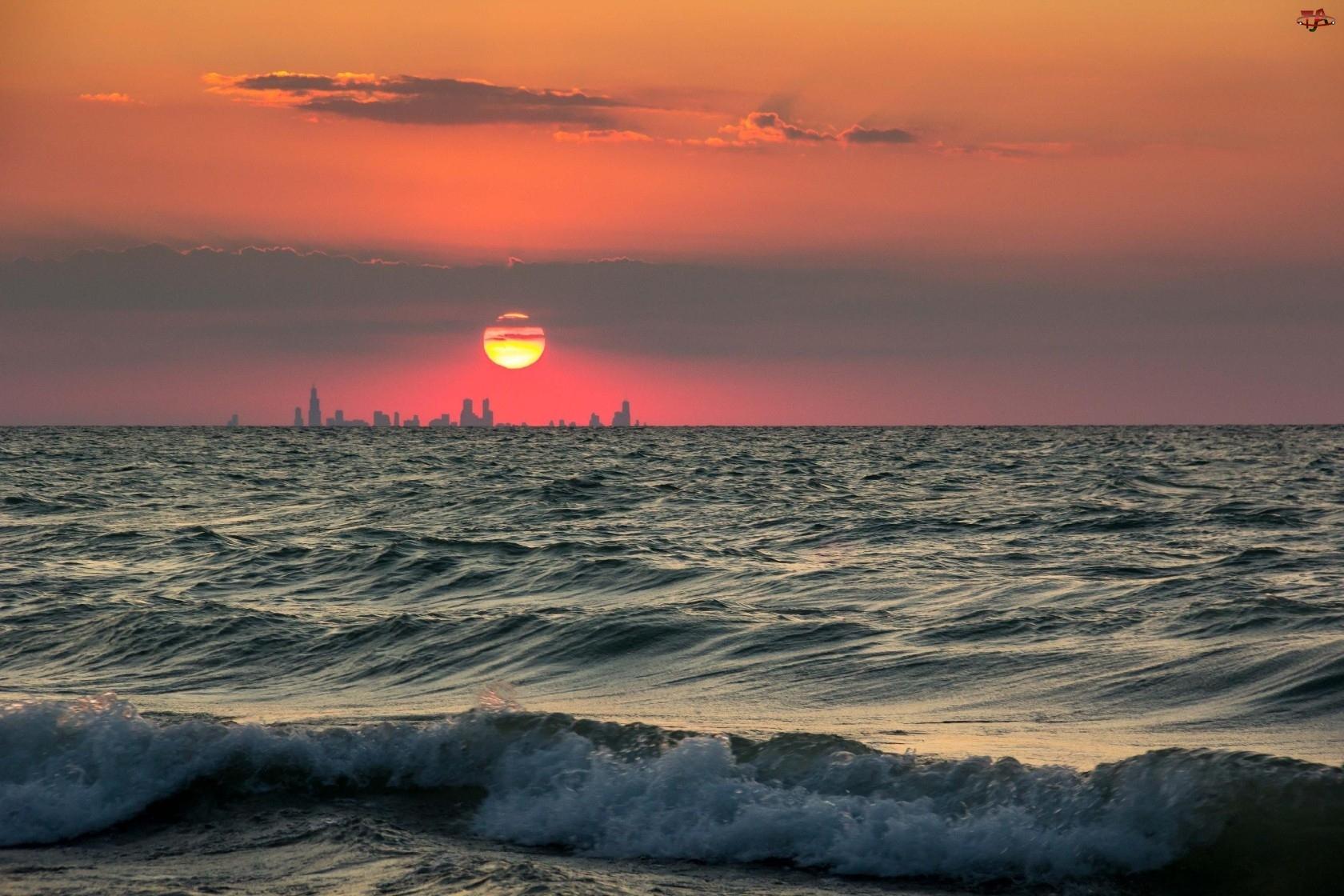 Morze, Zachód, Słońca