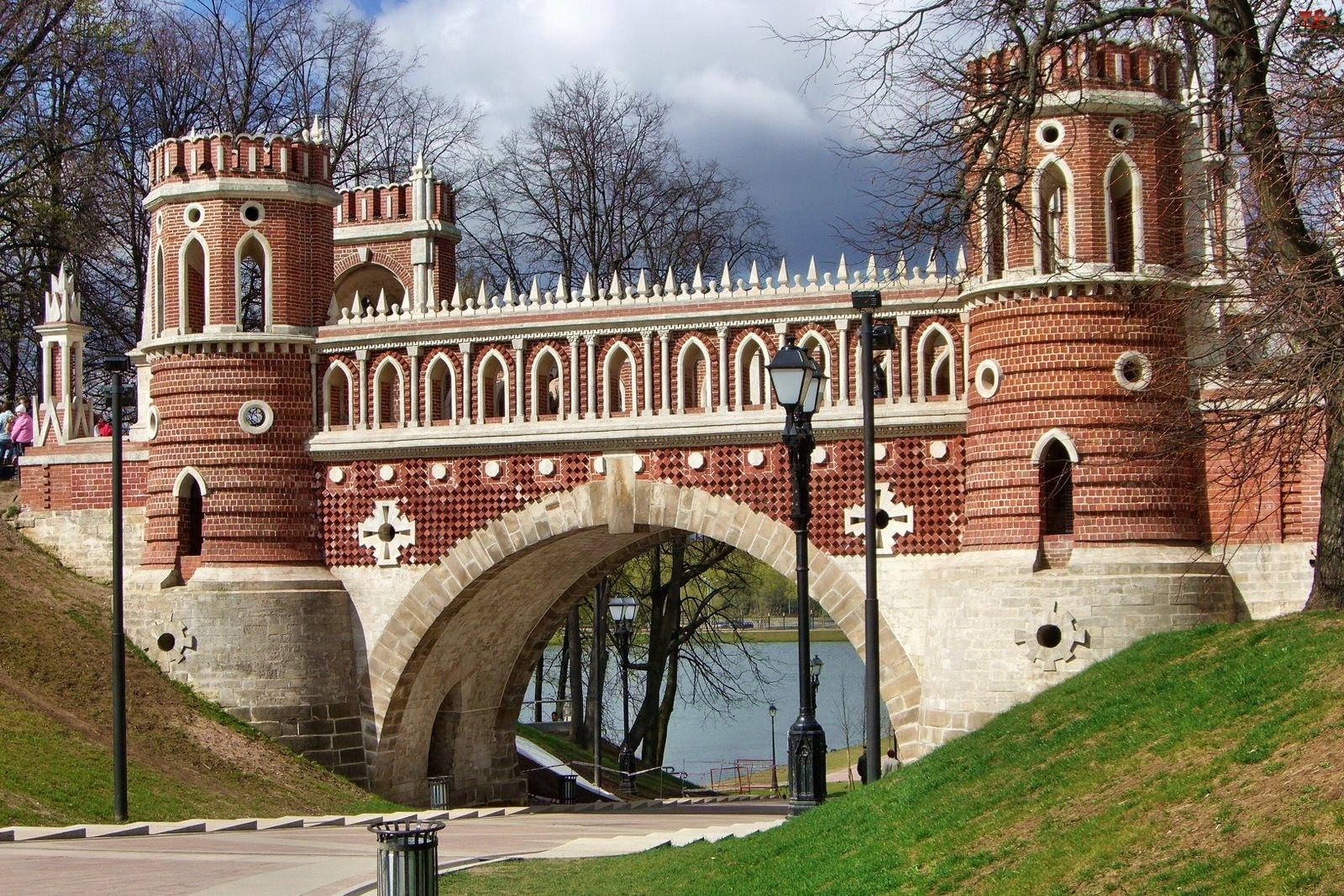 Rosja, Zabytkowy, Rzeka, Most, St. Petersburg