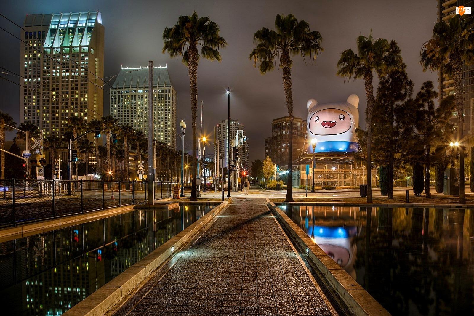Ameryka północna, Miasto, San Diego, Noc, Kalifornia