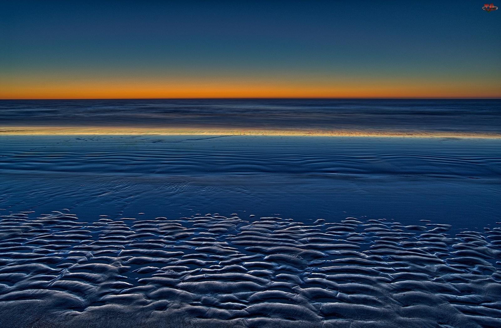 Plaża, Bermudy, Morze, Zmierzch