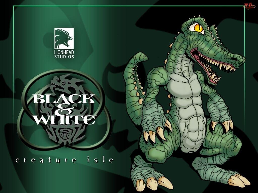 logo, Creature Isle, krokodyl