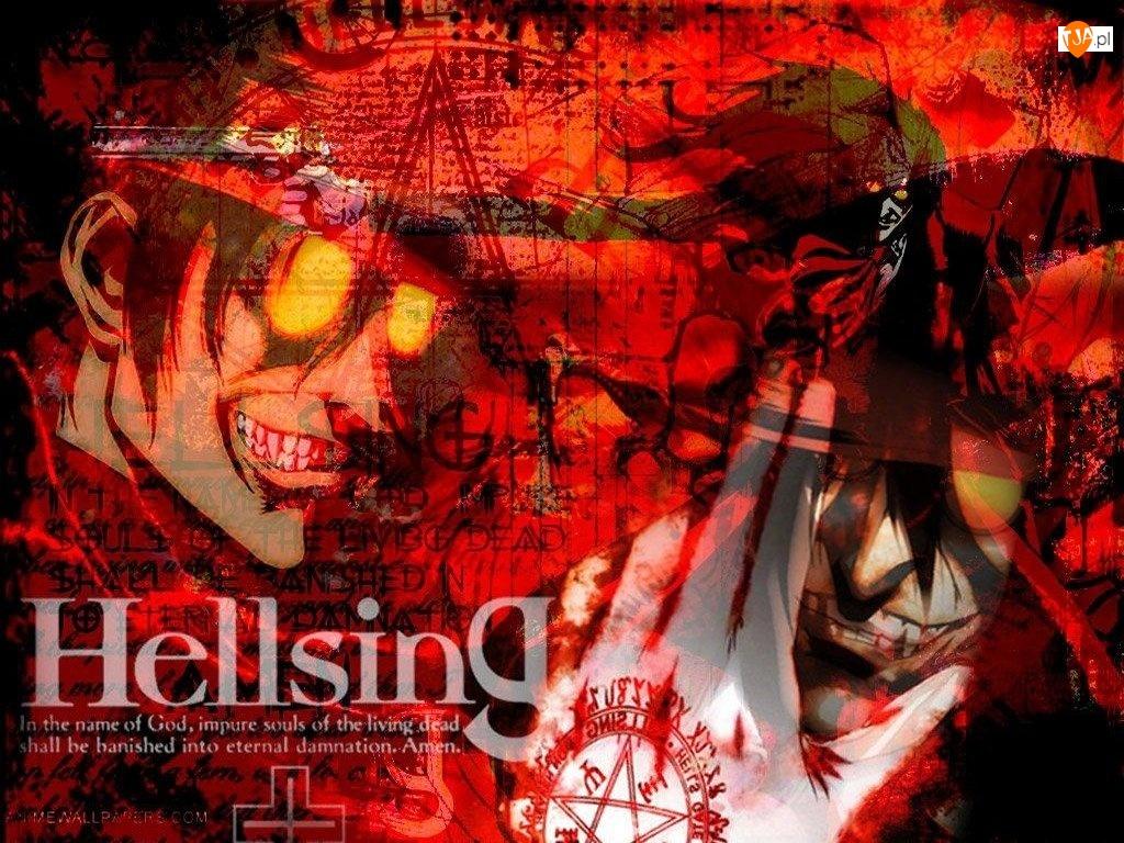 Hellsing, człowiek, twarz, oczy