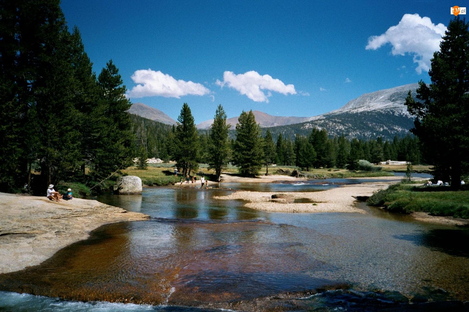 Mielizna, Stany Zjednoczone, Park Narodowy Yosemite, Stan Kalifornia, Rzeka Tuolumne River