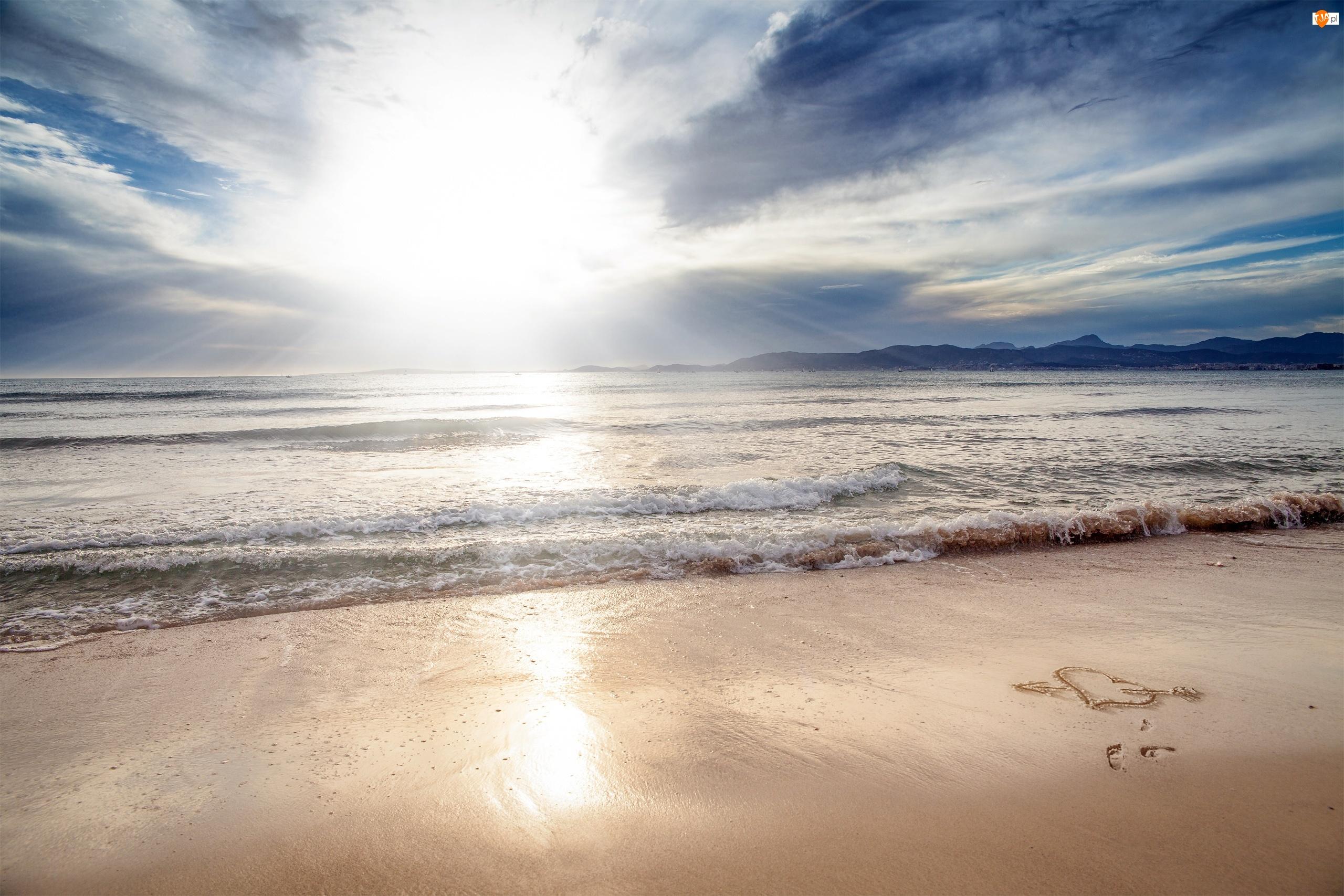 Plaża, Góry, Morze