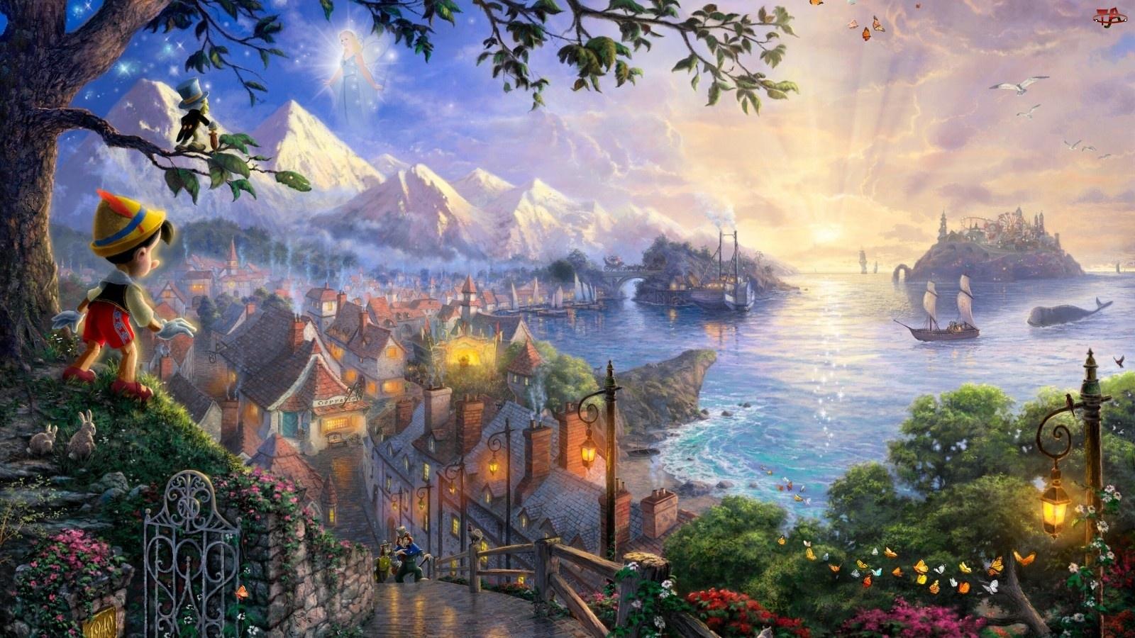 Thomas Kinkade, Wyspa, Disney, Pinokio