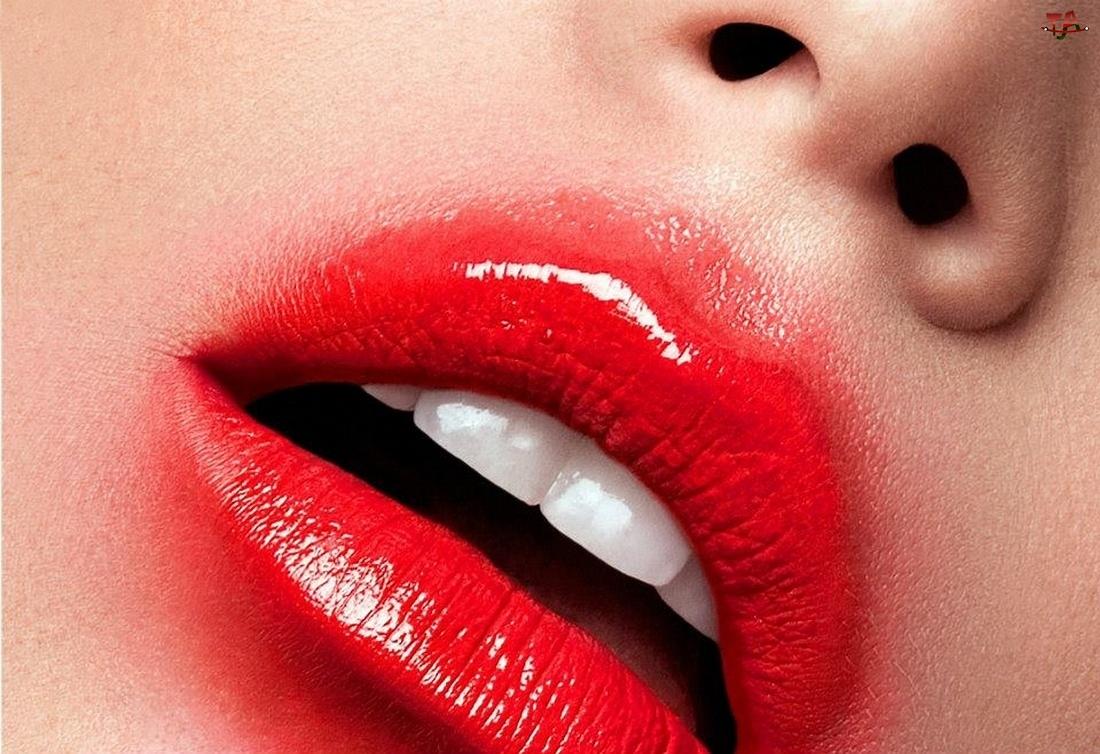 Kobieta, Makijaż, Nos, Usta