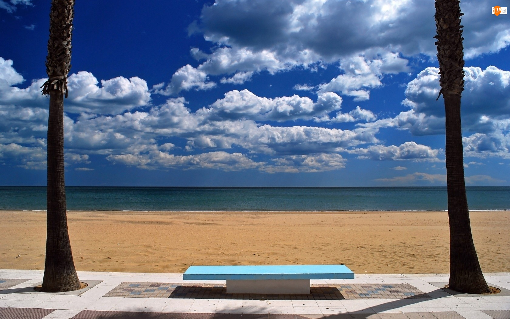 Chmury, Morze, Plaża