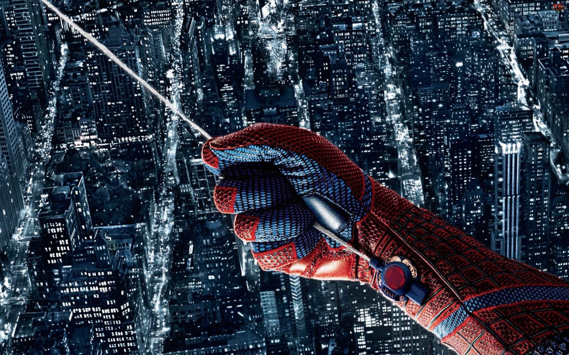 Ręka, Miasto, Spiderman, Pajęczyna
