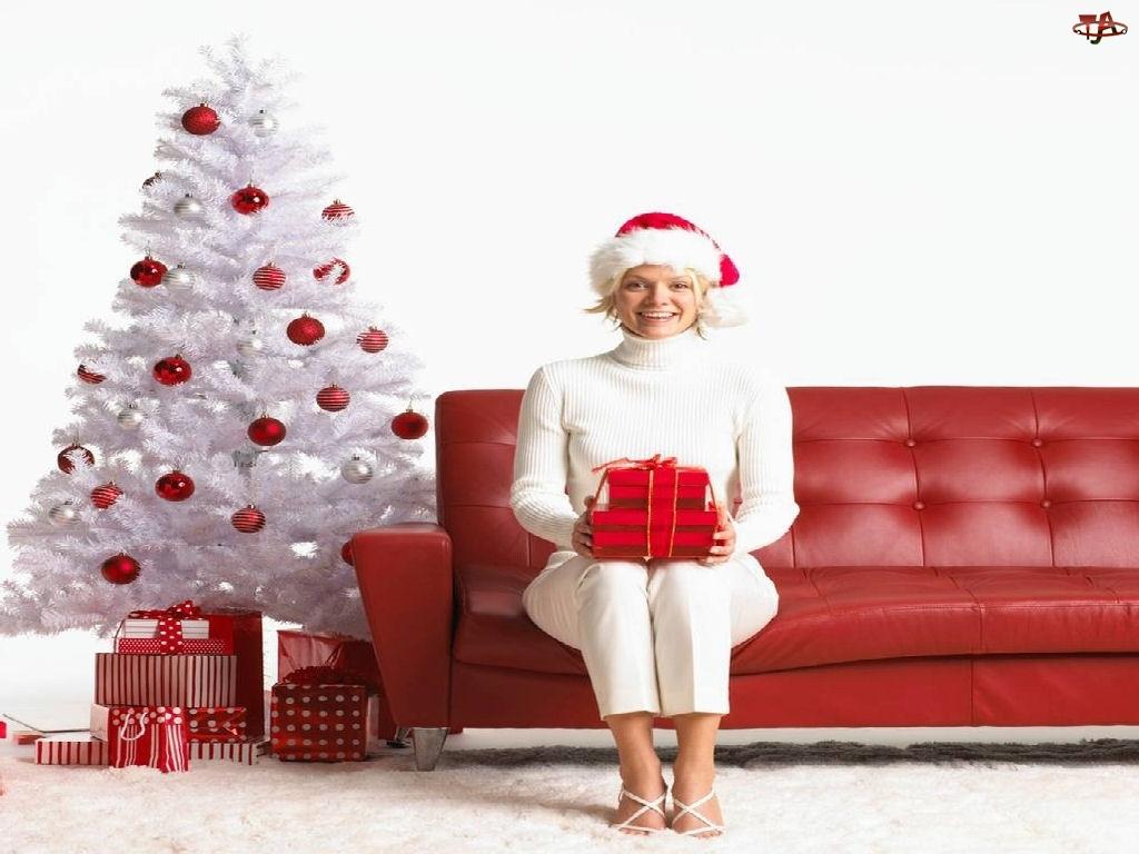 choinka, Boże Narodzenie, Kobieta