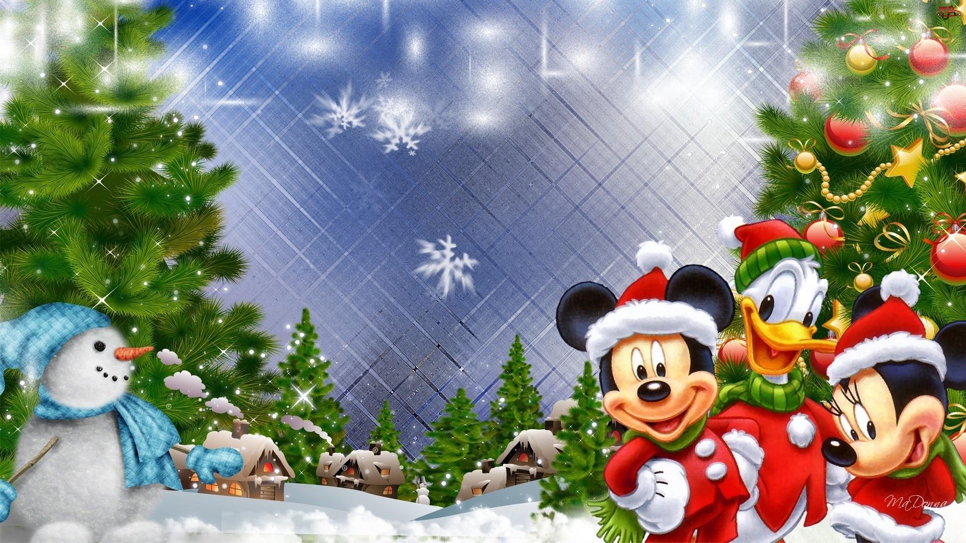 Święta, Myszka, Miki, Bałwanek