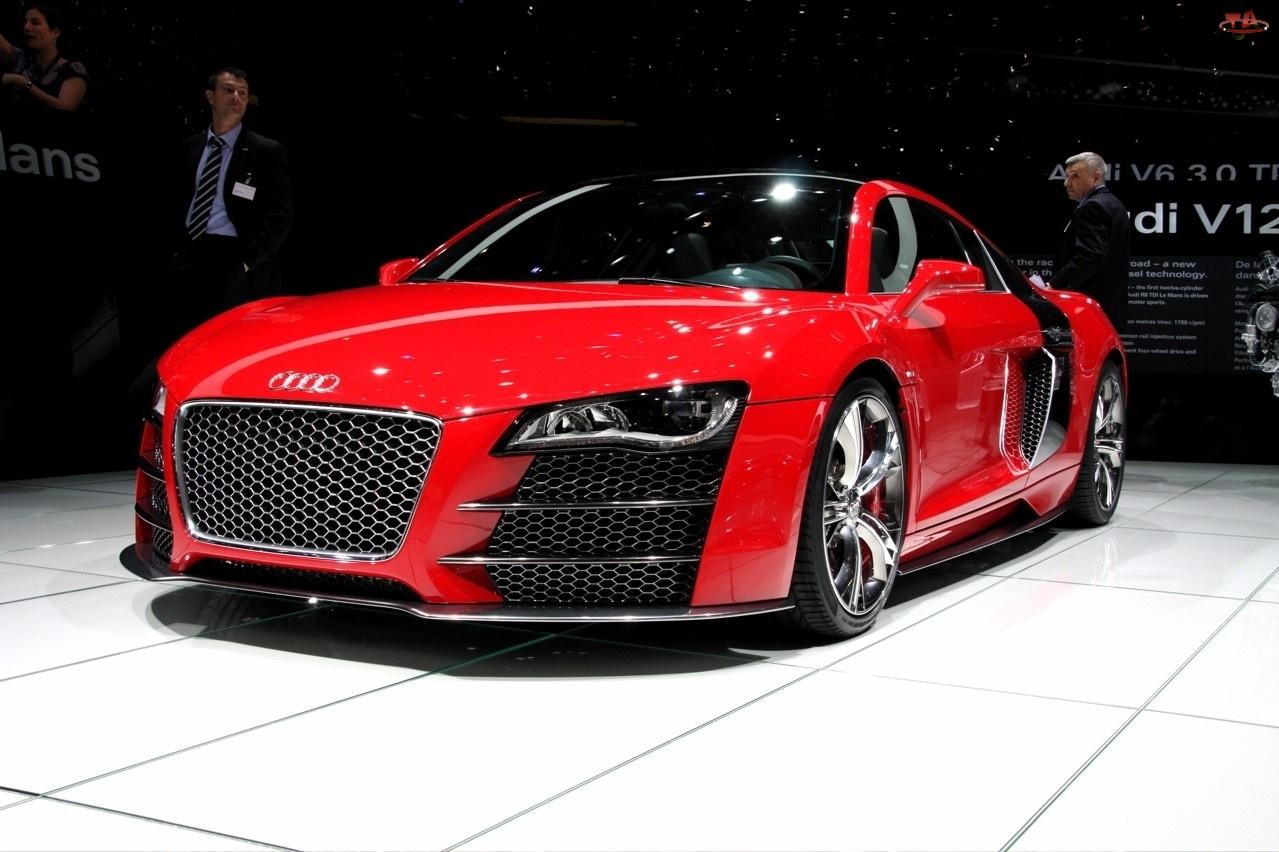 Audi R8, Czerwony, Metalik