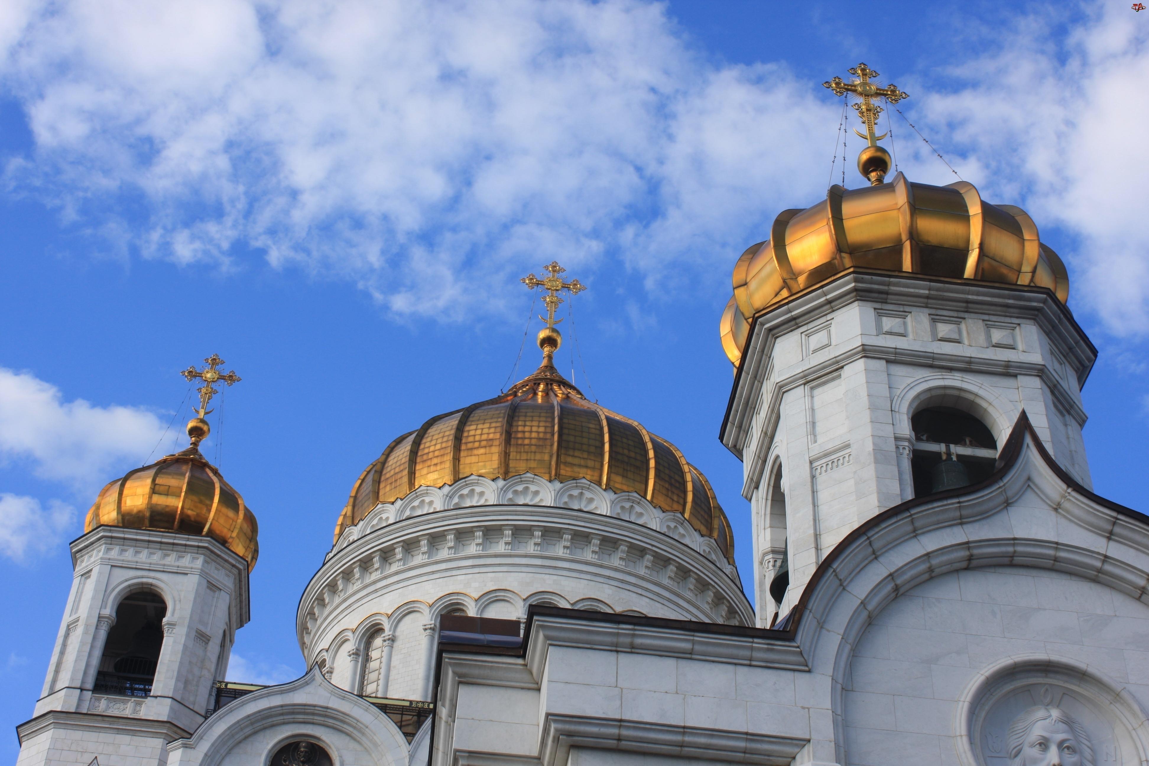 Kopuły, Rosja, Cerkiew Chrystusa Zbawiciela, Moskwa, Cerkiew