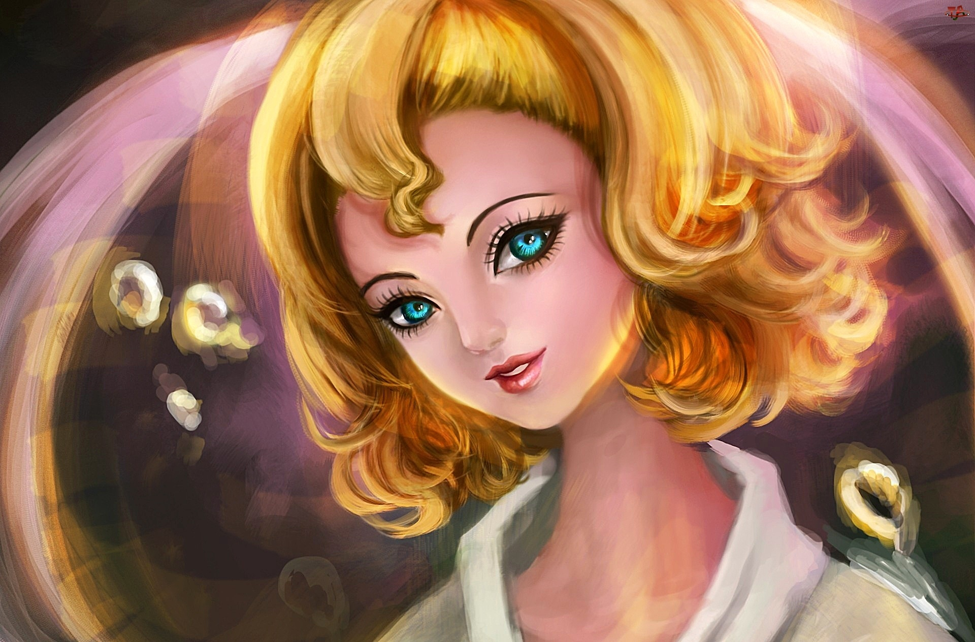 Spojrzenie, Kobieta, Blondynka