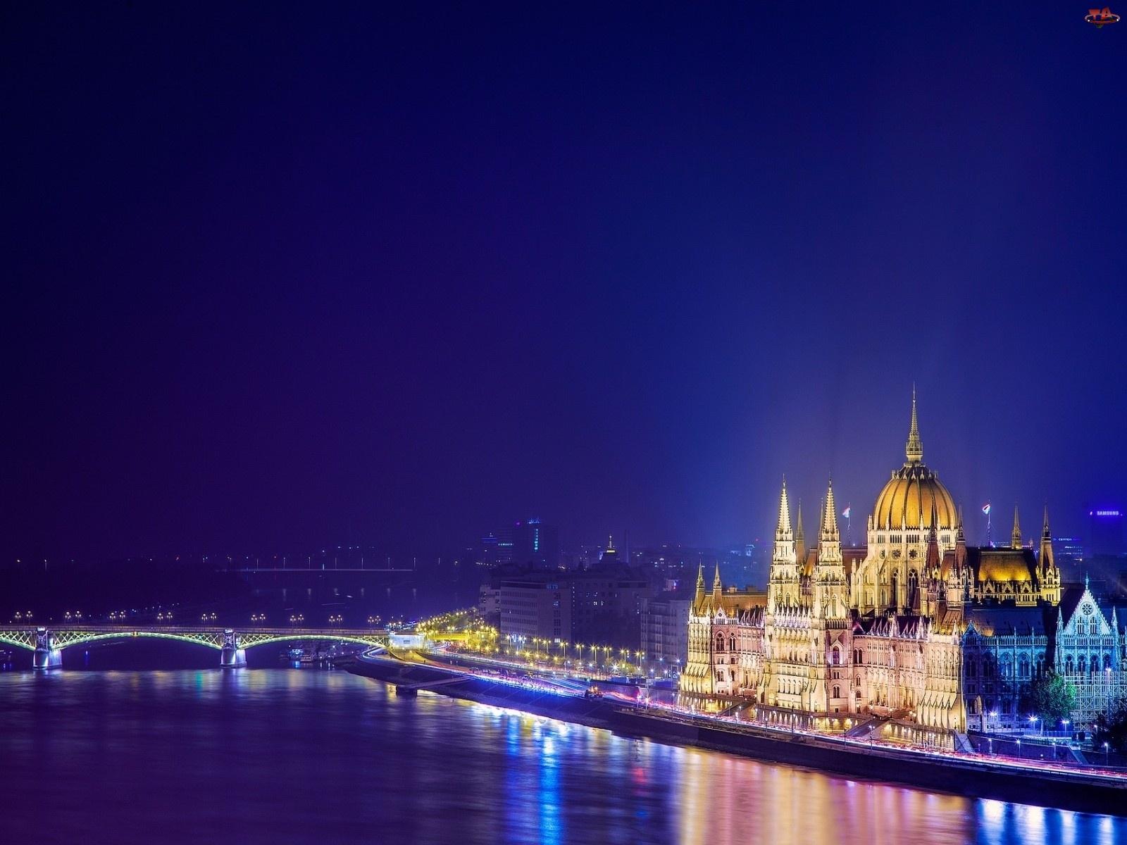 Most, Zabytki, Budapeszt, Węgry, Miasto, Rzeka