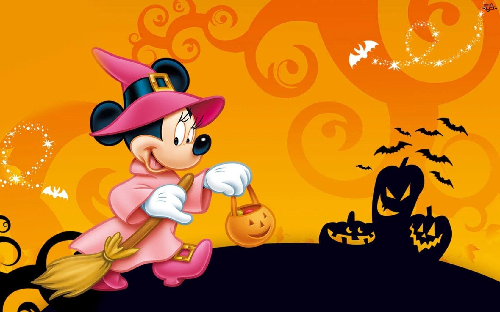 Myszka, Halloween, Miki, Minnie