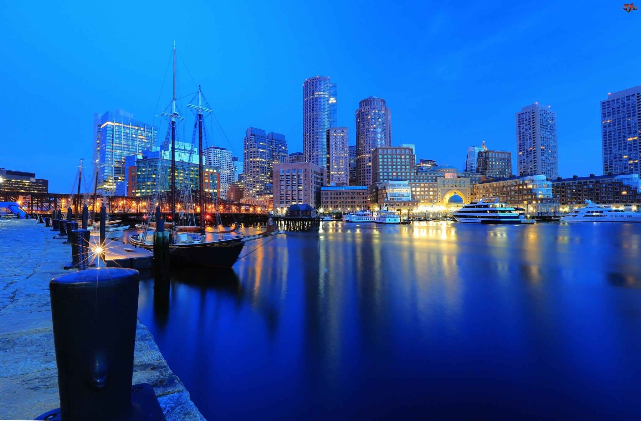 USA, Boston, Port