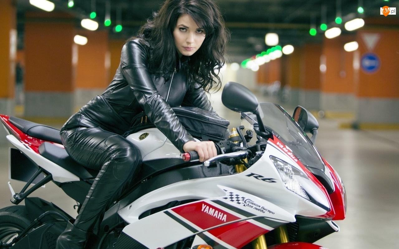 Yamaha, Kobieta, Motocykl
