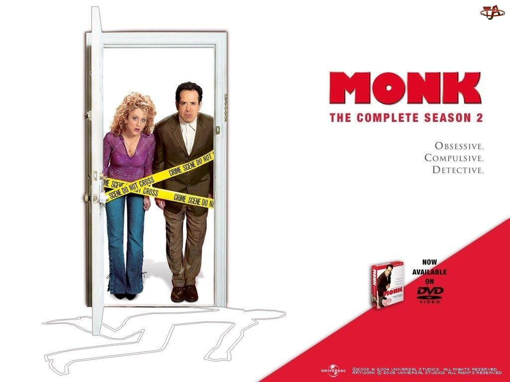 Detektyw Monk, taśmy, detektyw, drzwi