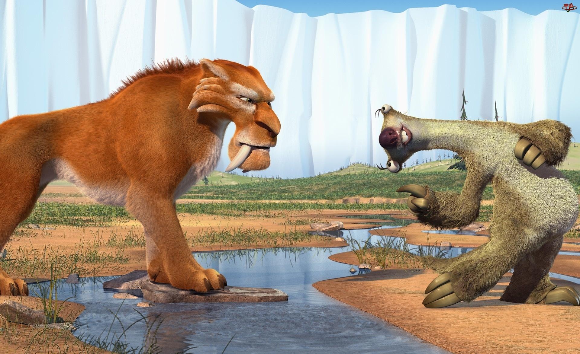 Tygrys, Epoka lodowcowa 2, Ice Age, Leniwiec