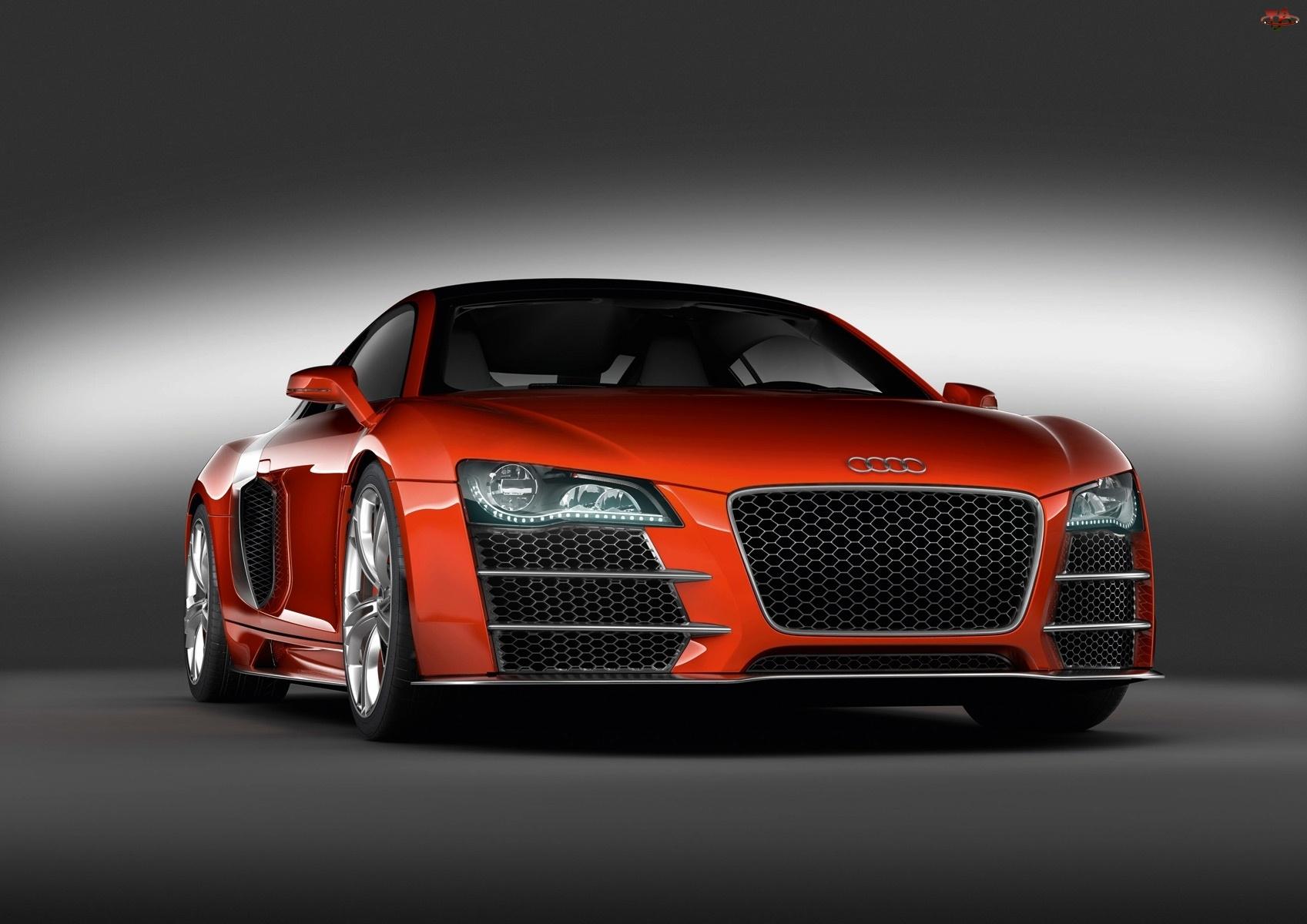 Grill, Pomarańczowe, Audi R8