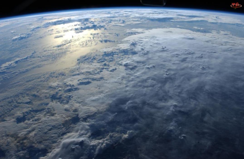 Chmury, Widok, Z, Ziemi, Kosmosu