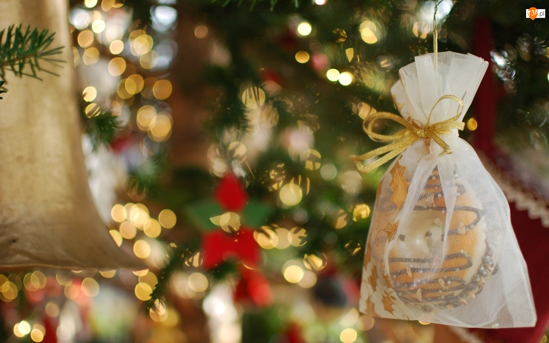 Choinka, Ciasteczka, Boże, Ozdoby, Narodzenie, Torebka